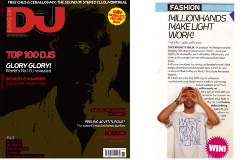 DJ magazine top 100 issue november techno house Tom Mangan Millionhands