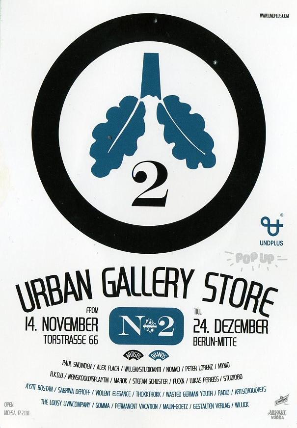 Urban gallery pop up shop Berlin T-shirts cool shop