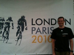London to Paris bike ride Geoff Thomas Foundation T-shirt Millionhands