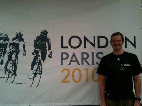 London to Paris bike ride Geoff Thomas Foundation T-shirt Millionhands