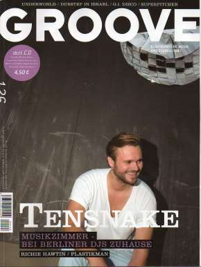 Groove Magazine Cover Tensnake Music T-shirts Millionhands