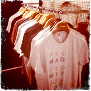 Folk Clothing Sample Sale LAmbs conduit street London fashion Millinohands T-shirts